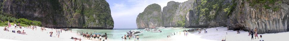 Панорама Maya Bay, Phi Phi Le Island, Тайланд